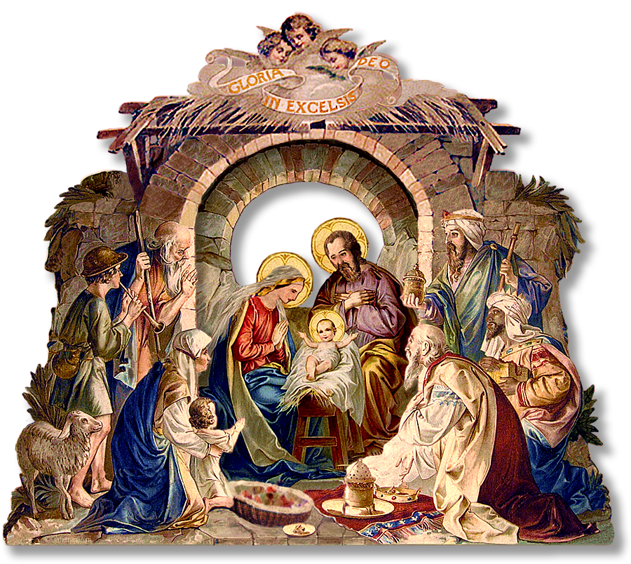 Holy Family Admires Jesus Nativity Religious Christmas: 1000+ Images About Christmas